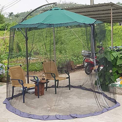 Sonnenschirm, Moskitonetz, Maschennetz, mit doppelter Reißverschlusstür, universelle Passform für fast alle Markttischschirme im Freien