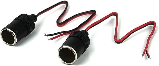 TOOHUI 12//24V Cavo di Prolunga per Presa Accendisigari da Maschio a Femmina Presa Accendisigari 1 a 2 Adattatore con Indicatore LED con Fusibile Auto Accendisigari 2-Way Splitter