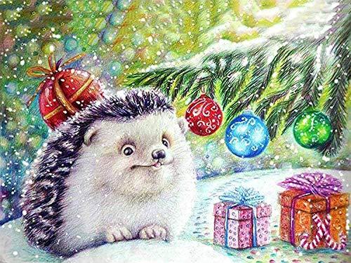 Volwassen Kinderen Puzzel Klassiek Creatief Houten Spel Woondecoratie Speelgoed Kerst Dier Egel Puzzels En Uitdagingen Legpuzzel - 1000 Stukjes