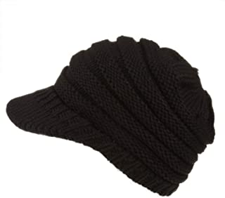 Spikerking Womens Trendy Outlet Tail Hat Soft Stretch Knit Warm Winter Beanie