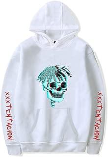 Unisex Cool Hoodie Skull Printed Drawstring Pullover Hoodie Sweatshirt with Kangaroo Pocket for Teens Women Men