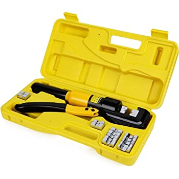 YQK-70 10 Ton Hydraulic Wire Cable Terminal Crimping Tool Pliers Set w// 9 Dies