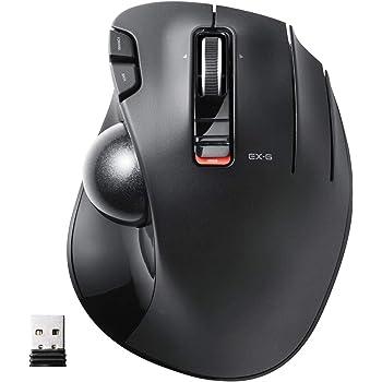 エレコム マウス ワイヤレス (レシーバー付属) トラックボール 6ボタン ブラック M-XT3DRBK