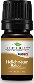 Plant Therapy Helichrysum Italicum Essential Oil 100% Pure, Undiluted, Natural Aromatherapy, Therapeutic Grade 5 mL (1/6 oz)
