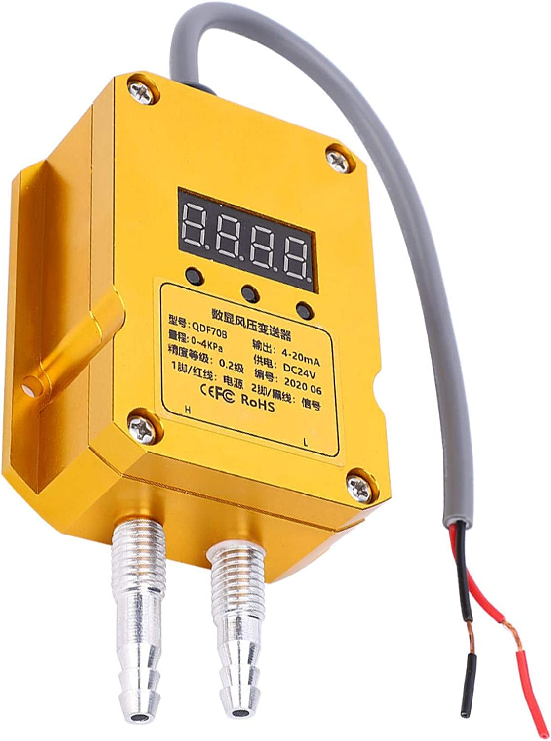 0.4Kpa Stable Anti‑Interference Durable Digital Display Transmitter For Boiler Air Supply Coal Industry Down Ventilation Pressure Process Wind Pressure Transmitter