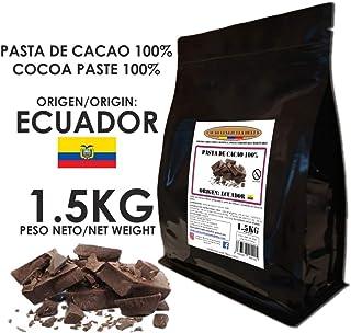Cacao Venezuela Delta - Chocolate Negro Puro 100% · Origen Ecuador (Pasta, Masa, Licor De Cacao 100%) · 1,5kg