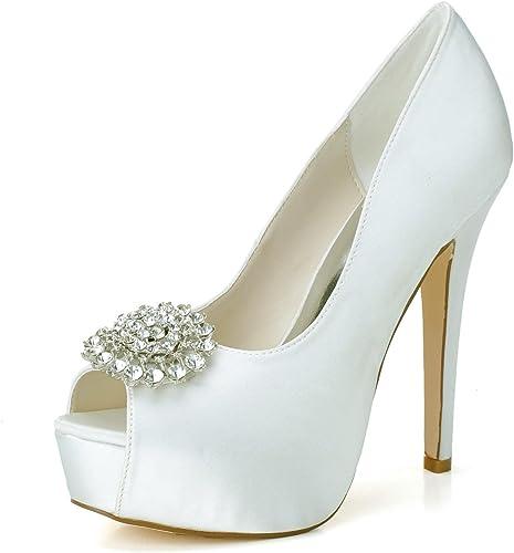 L@YC Femmes Chaussures Chaussures Chaussures de Mariage Stretch Satin Printemps Peep Toe Sandals Mariage Soirée Party Multi-Couleur personnalisée d84