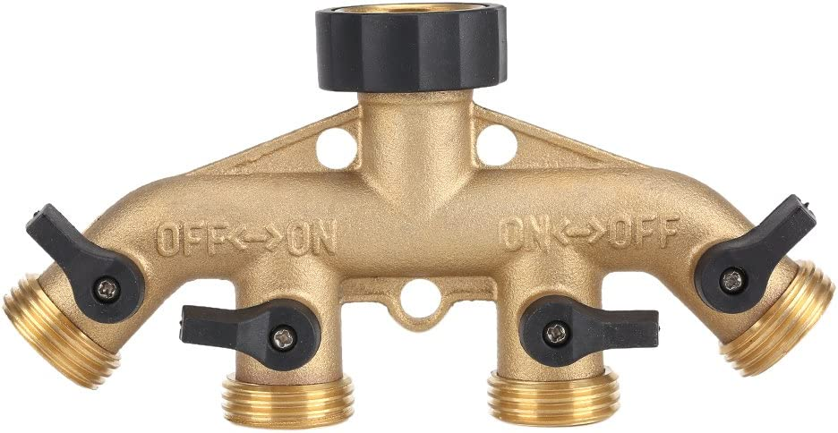 Zerone 4 2021new shipping free shipping Way Hose Splitter Split Manufacturer regenerated product Pipe 3 Inch Brass