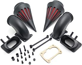 HTT Motorcycle Black Billet Aluminum Cone Spike Air Cleaner Kit Intake Filter For Suzuki Boulevard M109 (All Years)
