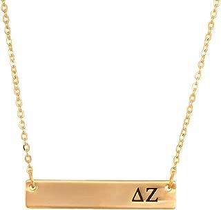 delta zeta bar necklace