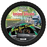 New Silicone Semi-truck Steering Wheel Cover Fits 16' 17' 18' 19' Steering Maximum Grip