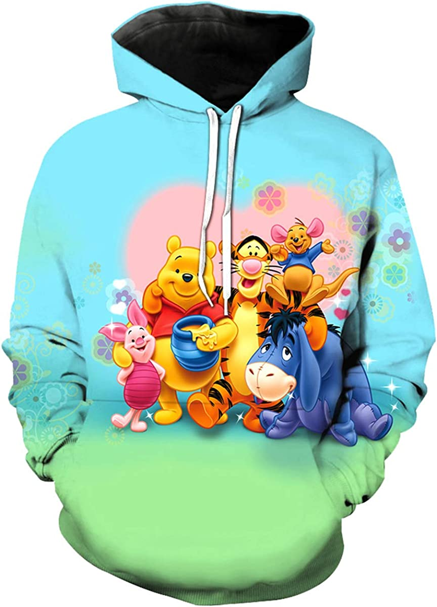 Lulu New Free Shipping Boys Girls Cute Cartoon Hoodies Winnie 3D Great interest T Printed Snoopy