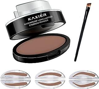 CCbeauty Eyebrow Powder Stamper Seal Kit Eyebrow Kit Powder Makeup Eyebrow Tinting Coloring Kit,Light Brown