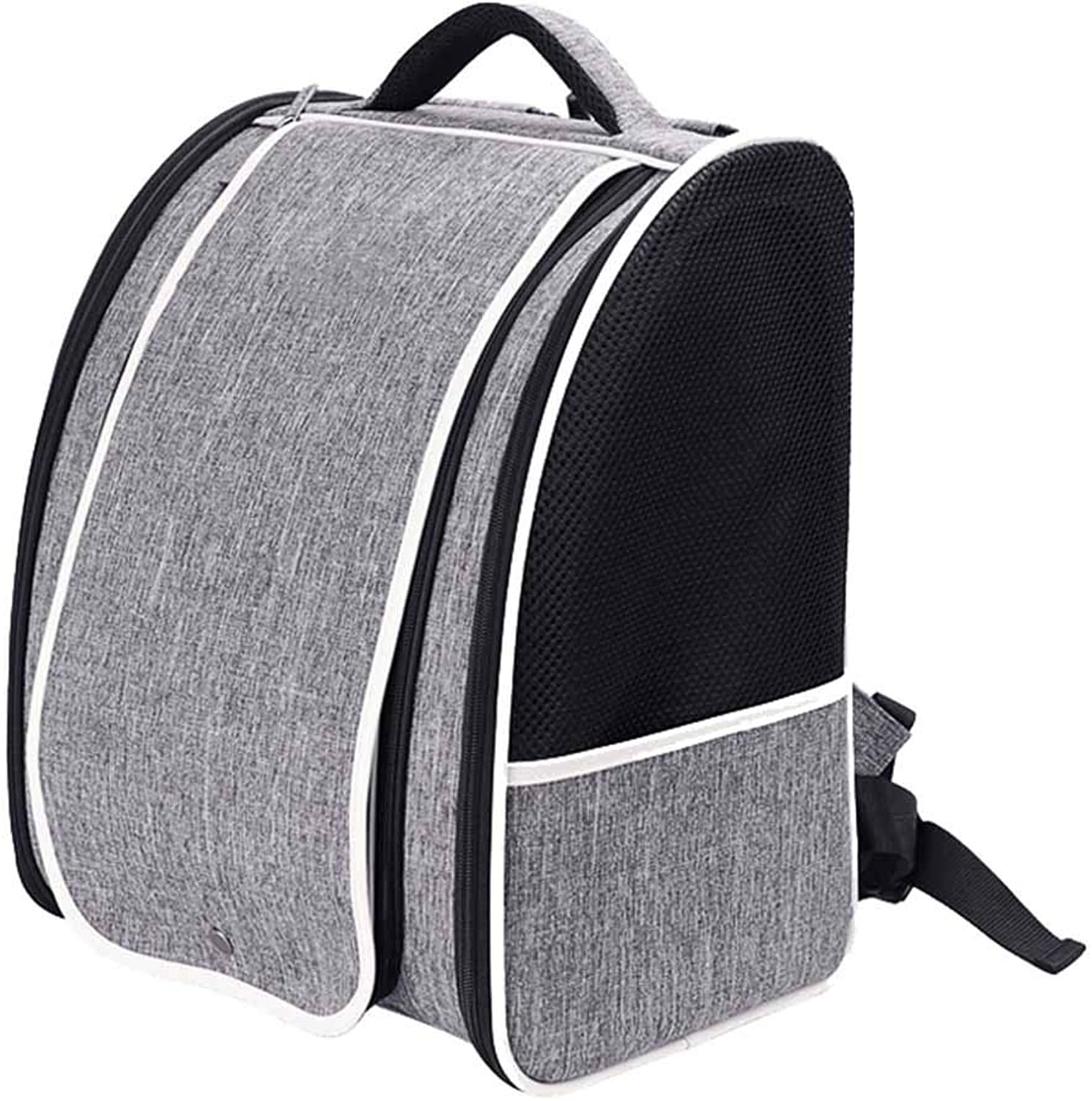 NIANXINAN Breathable Double Shoulder Travel Portable Cat Dog Carrier Pet Backpack