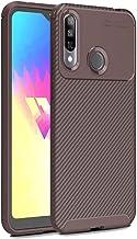 Mobile phone case Beetle Series Carbon Fiber Texture Shockproof TPU Case for LG W30(Black) (Color : Brown)