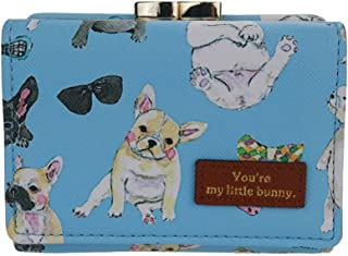 The Orient Bee Women's Mini Leather Wallet Kiss Lock Closure Bow Cat