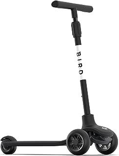Bird Birdie   Kick Scooter for Kids, 3-Wheeled, Adjustable Height Handle, Lean to Steer, Back Stomp Brake