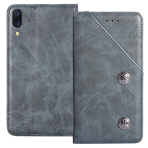 YLYT Flip TPU Silikon Blue Schutz Hülle Hülle Für Xiaomi Black Shark 2 Pro 6.39 inch Etui Leder Tasche Handyhülle Hochwertiges Stoßfeste Kartenfach Cover