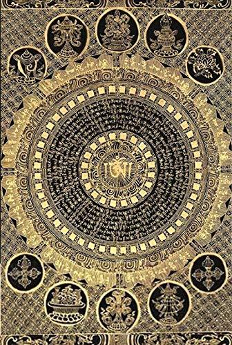 Z.L.F.J.P Tibetisch Religiöse wandkunstbild Tibetan Mantra thangka dekorative leinwand malerei für Wohnzimmer Buddha Poster und druckt Nicht gerahmt (Color : No Frame, Size (Inch) : 20x25cm No Frame)