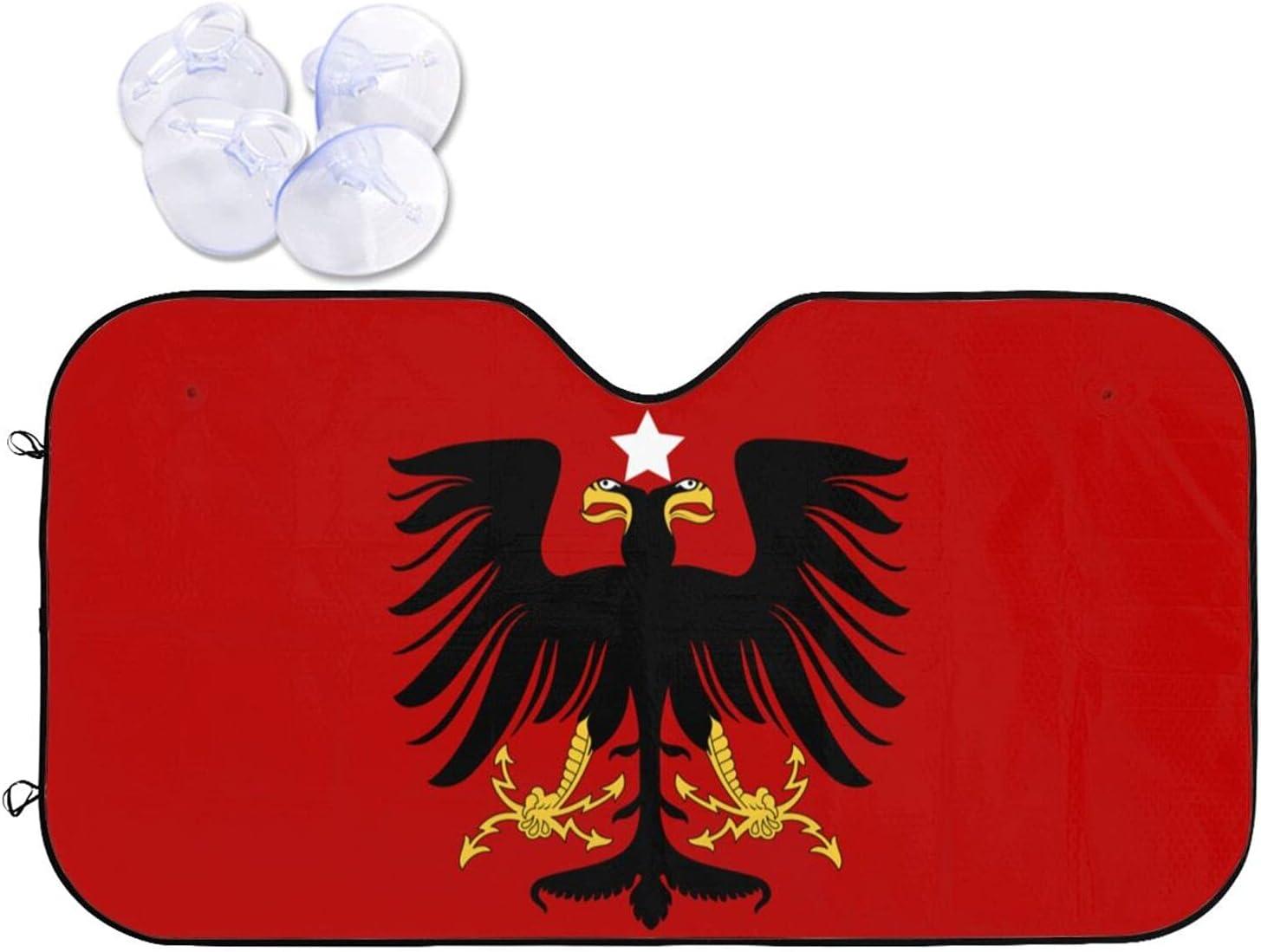 LDMSL Foldable Car Windshield Sun OFFer Provisi of Max 44% OFF Albanian Shade Flag
