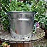Gartenzaubereien Zinkeimer XXL 32 Liter Liter Miniteich Pflanzkübel Getränkekühler