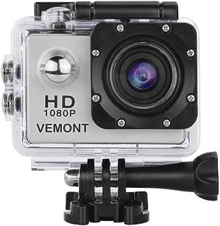 e9d0f8c10 Vemont Cámara Deportiva 1080P HD Impermeable 30M Pantalla de 2.0 Lente de  Gran Angular de 120