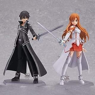 Anime Sword Art Online SAO Figure Toy Kirito Kazuto Asuna Yuuki Figure Figma 174 178 New with Box (BLDCK)