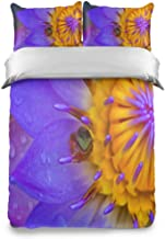 Rod Whitehead Fondo De Pantalla Water Lily Frog Kids Bedding Comforter Cover Sets Soft Crystal Velvet Cotton Satin Hotel Collection–Home Decorative 3 Piece Bedding Set with 2 Pillow Shams/Pillowcase
