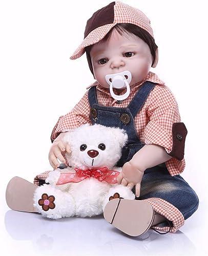 TERABITHIA 22 Zoll 55 cm Seltene Lebendige Moderne Adrette Wiedergeboren Baby Puppen Ganz  Silikon Vinyl Neugeborenen Jungen Puppe Kinder Geburtstag Weißachten Geschenk