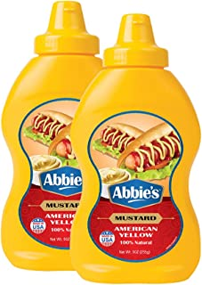 Abbie's Squeeze Yellow Mustard, 255g, Pack of 2, Product of USA