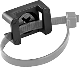 Pro-Grade, Slim, 1x .6 Cable Tie Mounts With Screws 100 Pack. High Strength, Black Zip Tie Bases For Wire Management. Permanently Anchor To Wall, Desk or Baseboard. Run Cords at Your Home or Office