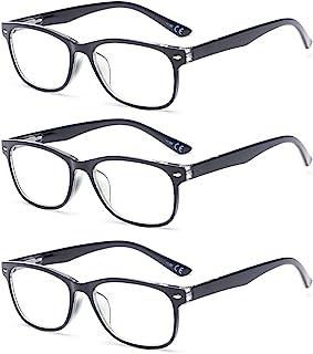 Suertree 3 Pack Anti-Blauwe Leesbrillen, Computer Brillen, Blauw Licht Filterbril, Blokkerende UV-Computerbril, Visuele Le...