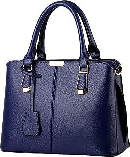 Kangma Women Solid Color High Capacity HandBag Simple Fashion Crossbody Bag Totes Zipper PU Artificial Leather Crossbody Bags