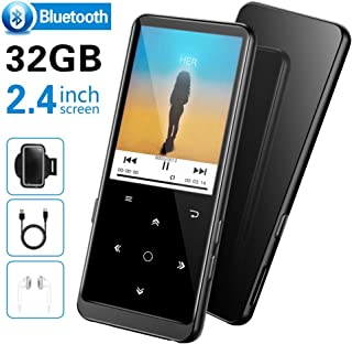 "32GB MP3 Player, Supereye MP3 Players with Bluetooth 4.2, Music Players with FM Radio and Recording, 2.4"" Screen, HiFi Lossless Sound, Support up 64GB Expansion(Earphone, Sport Armband Included)"
