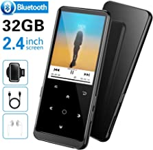 """32GB MP3 Player, Supereye MP3 Players with Bluetooth 4.2, Music Players with FM Radio and Recording, 2.4"""" Screen, HiFi Lossless Sound, Support up 64GB Expansion(Earphone, Sport Armband Included)"""