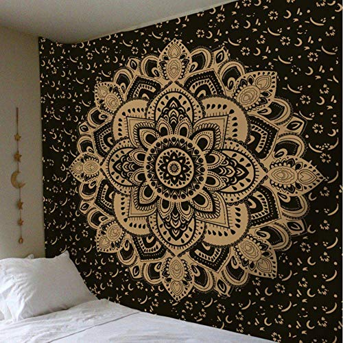 Tapiz de mandala de tela india para colgar en la pared hippie boho tapiz decorativo de tela de pared boho alfombra de pared decorativa estera de yoga