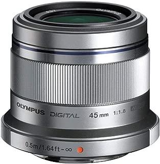 Olympus M. Zuiko Digital ED 45mm f1.8 (Silver) Lens for Micro 4/3 Cameras - International Version (No Warranty)