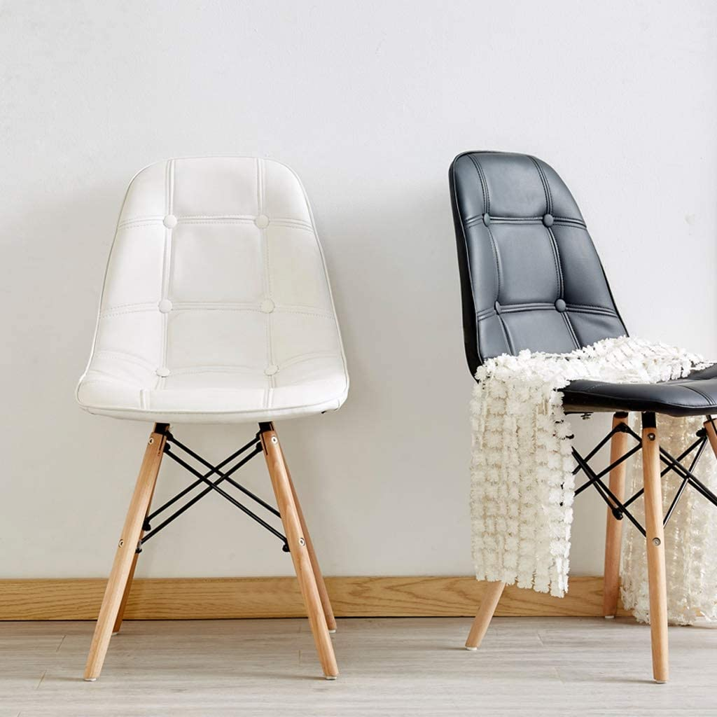 SLL- Chaise de Salle, Chaise de Bureau Simple, créative Dossier, Chaise Loisirs, Maison Adulte Chaise de Salle Moderne (Color : Yellow) Black