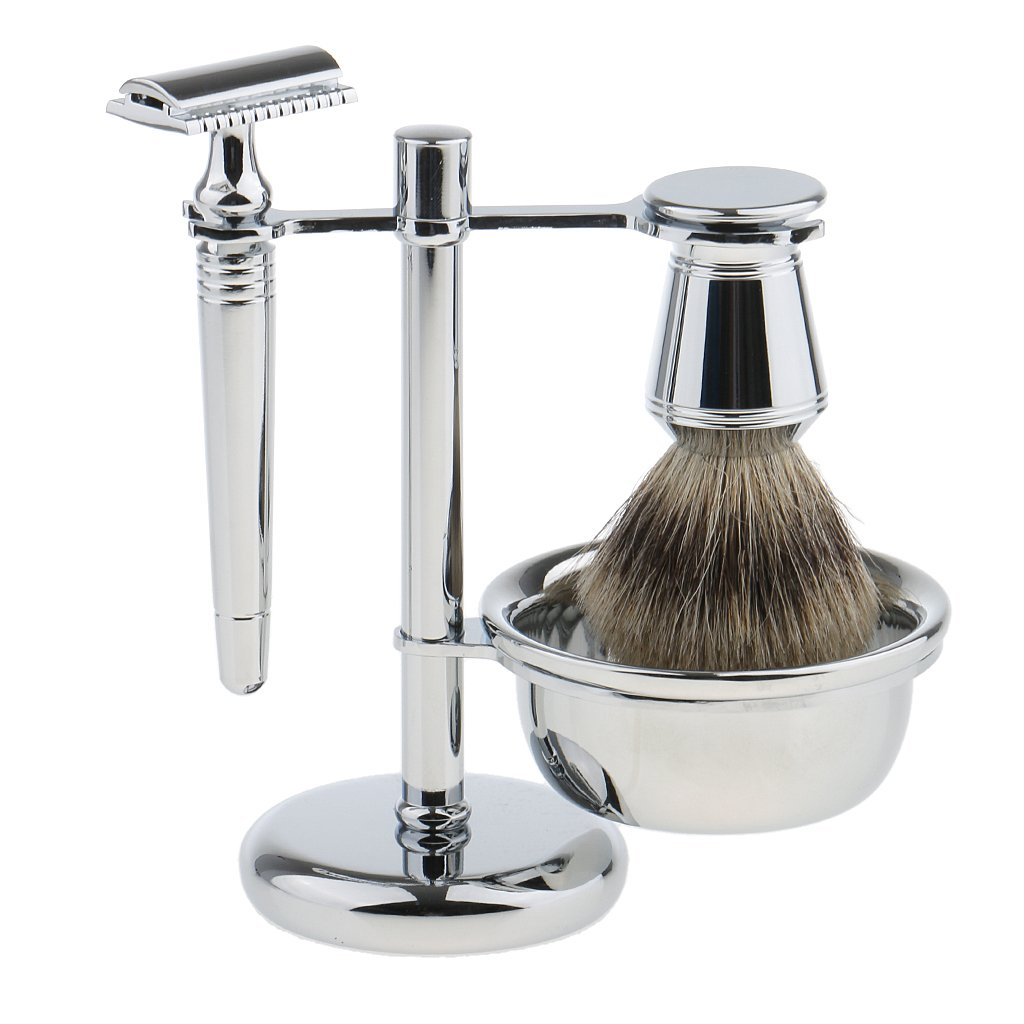 Bonarty Men Stainless New Free Shipping Shaving Kit Weighted Ranking TOP9 Base +Bo Stand+Safety