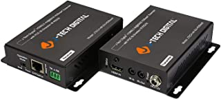J-Tech Digital HDBaseT HDMI Extender 4K Ultra HD Extender for HDMI 2.0 Over Single Cable CAT5e/6A up to 230ft (1080P) 130ft(4K) Supports HDCP 2.2/1.4, RS232, Bi-Directional IR and PoE (Renewed)