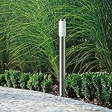 CGC Stainless Steel Silver Tall 1 Metre Outdoor Post Bollard Outdoor Light Indoor Garden Patio Porch Door Conservatory Decking Shed