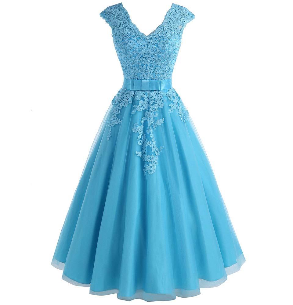 Available at Amazon: Jdress Women's Vintage Short Tea Length Lace Wedding Dresses for Bride 2019