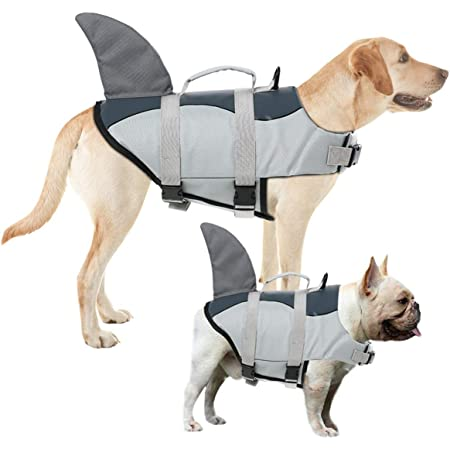 Dog Lifesaver Preserver Swimsuit for Water Safety at The Pool Dog Life Jackets Ripstop Pet Floatation Life Vest for Small Middle Large Size Dogs Boating Beach