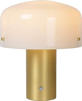 Lucide TIMON - Lampe de table - 1xE27 - 3 StepDim - Or Mat / Laiton