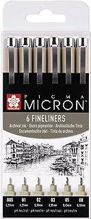 Pigma Micron 6Fineliners Noir