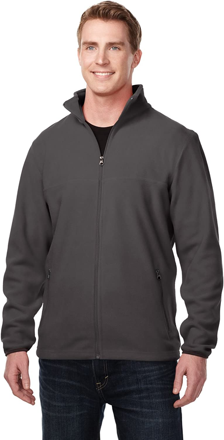 Tri-Mountain Peak Performers 100% Polyester Midweight Fleece Jacket Charcoal