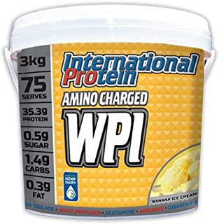 International Protein Amino Charged Whey Protein Isolate Powder, Banana 3 kg