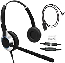 TruVoice Deluxe Double Ear Headset with Noise Canceling Microphone and a 2.5mm Adapter for Polycom IP 320, IP330, IP321, IP331, Cisco SPA, AT&T, VTech, RCA, Panasonic and All Phones with a 2.5mm Port