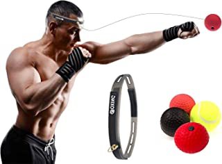 Eyscoco Boxtraining,Boxtraining Ball,Reflex Fightball Speedball Punch Boxing Ball Mit Kopfband,F/ür Boxtraining Trainingsger/ät F/ür Leistungssteigerung Im Boxen
