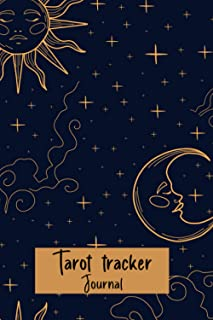 Tarot Tracker Journal: A daily reading tracker and notebook, Vintage Mystic Celestial Design, Track your cards draw, quest...